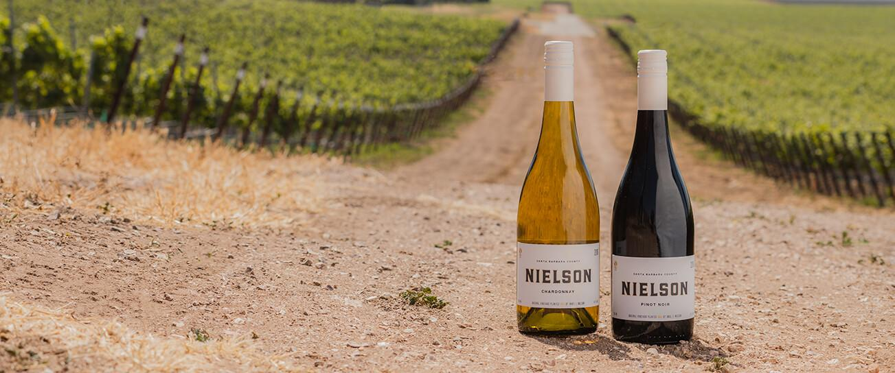 Santa Barbara Pinot Noir and Chardonnay in the Nielson Vineyard.